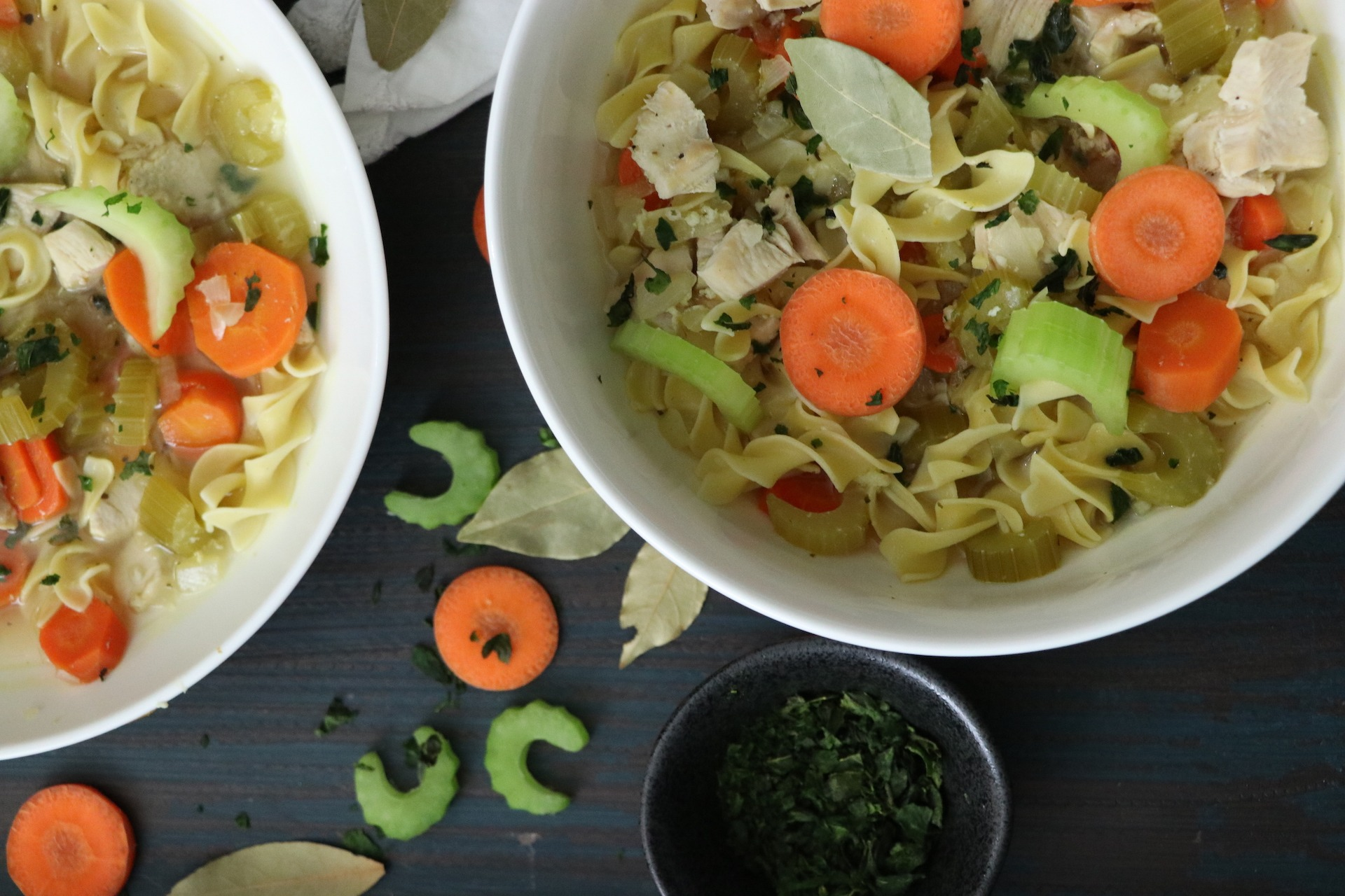 Homemade Chicken Noodle Soup Recipe | Best Healthy Recipe From Scratch
