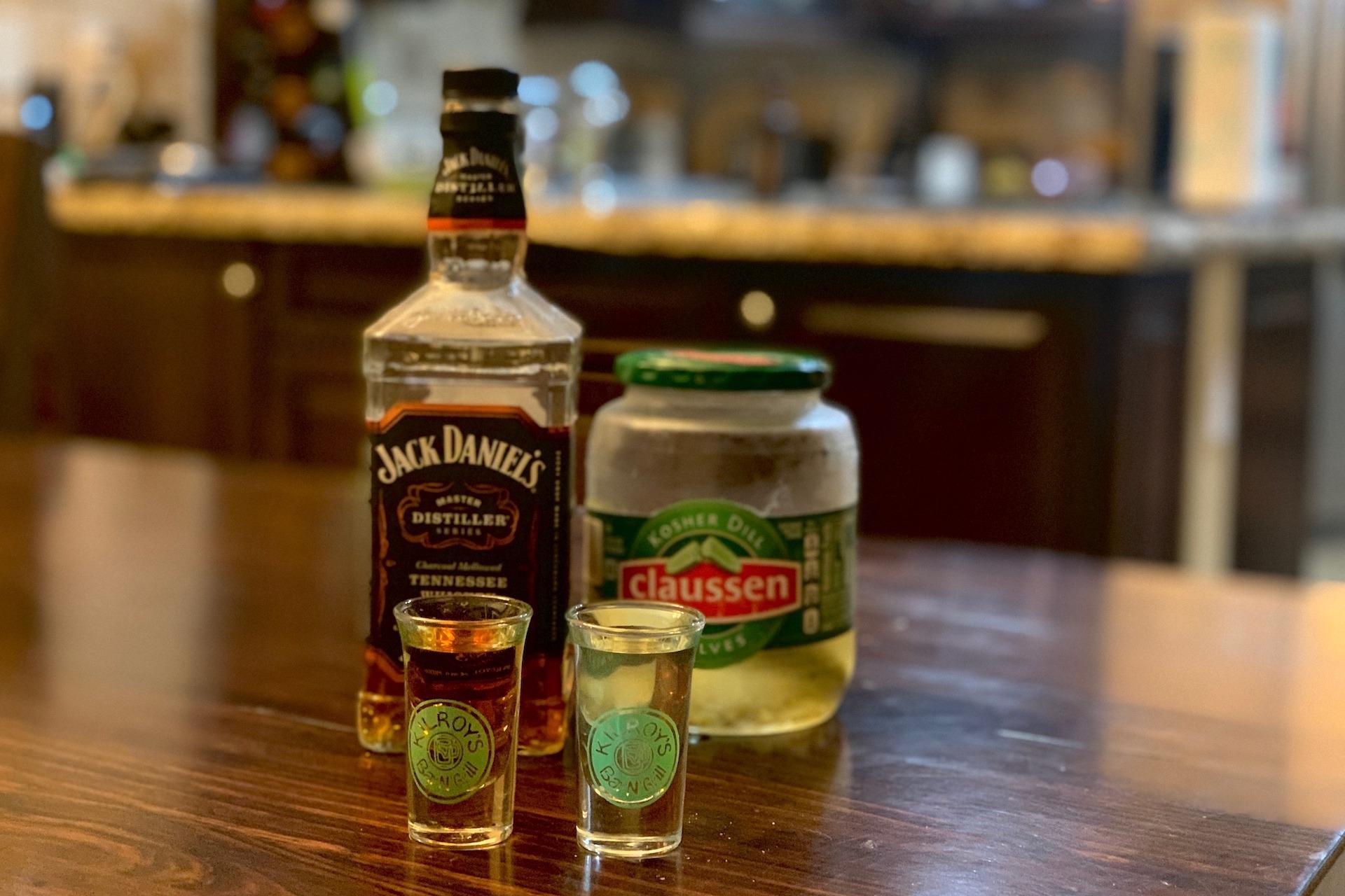 Whiskey Pickleback Shot Recipe Inspire Travel Eat