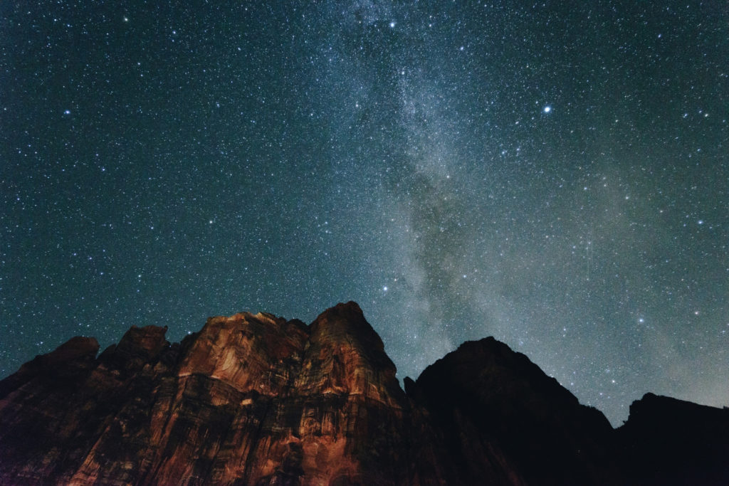 Milky Way Bucket List Zion National Park