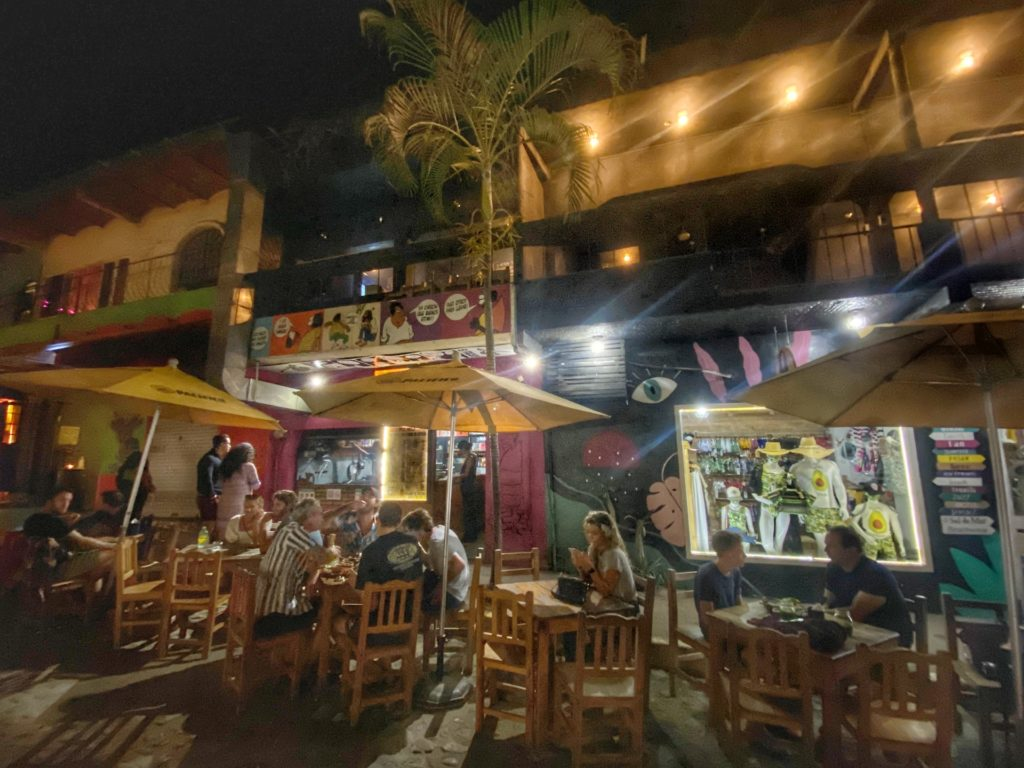 Eating On the street Sayulita