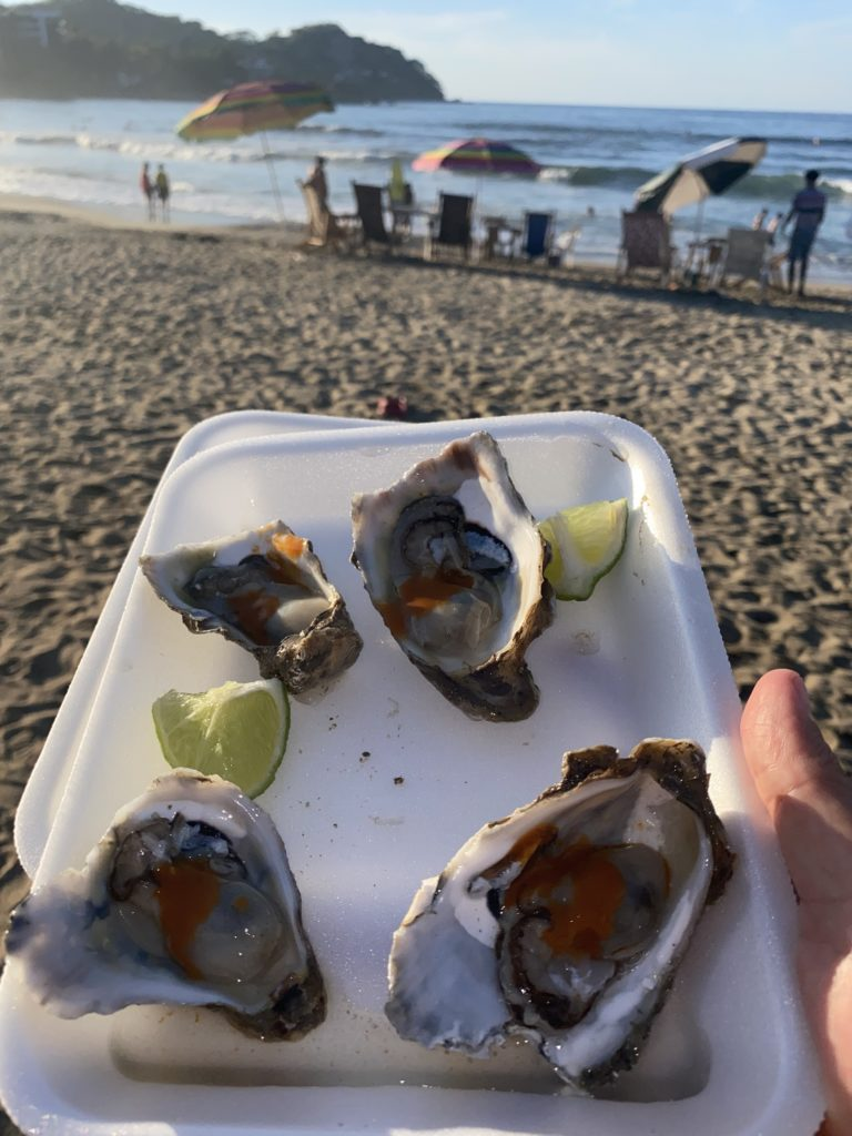Sayulita fresh shucked oysters