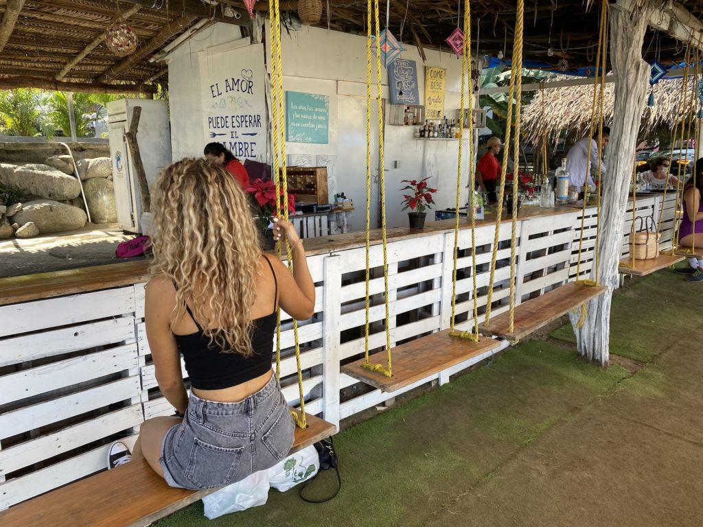 best beach swing bars in Sayulita