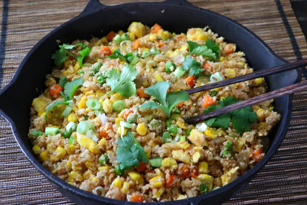 Easy cauliflower fried rice recipe