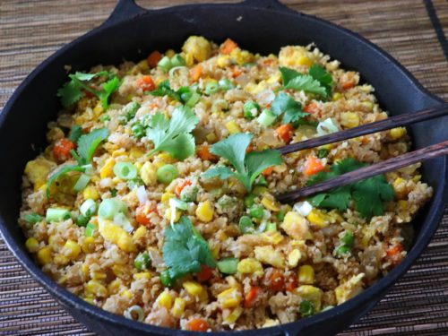 Easy cauliflower fried rice recipe
